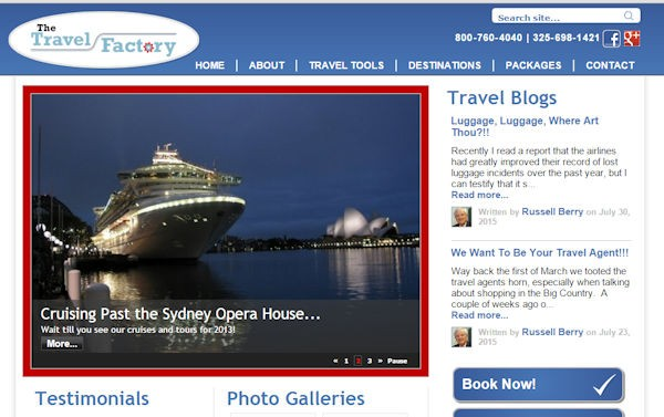 The Travel Factory Website